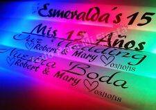 Personal Glowsticks Wedding Personal Glow Sticks Quinceanera Glowsticks 100 pc