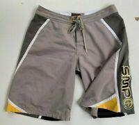 SMP Men's White Board Surf Beach Knee Length Shorts Size 38 XXL