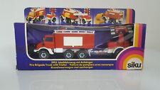 SIKU Super Serie 2913 Unimog Feuerwehr Löschfahrzeug mit Anhänger 1979-1984 OVP