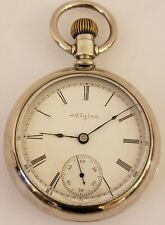 Antique Working 1899 ELGIN Nat'L Watch Co. Silver Victorian Pocket Watch 18s