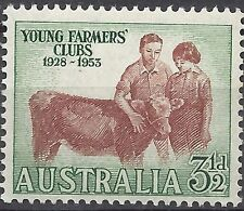 Australia 1953 3½d YOUNG FARMERS, Unhinged Mint SG 267