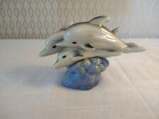 Pottery Ceramic Dolphin Sea Life Figurine Ornament Decor T.L