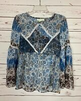 Staring at Stars Urban Outfitters Women's XS Extra Small Blue Spring Blouse Top