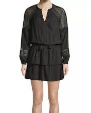 Ramy Brook Black Winnie Lace Dress M Medium Retail $455 Boho Stevie Nicks NWOT