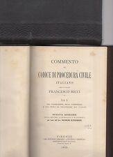 commento al codice di procedura civile italiano - avv.francesco ricci - 4 volumi