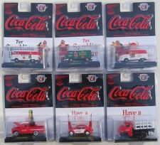 M2 MACHINES COCA-COLA HOLIDAY SANTA CLAUS & HOBBY SET OF 6 VW VAN CHEVY 1/4,800