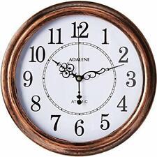 Adalene Atomic Wall Clocks Battery Operated - Vintage Atomic Clock Analog Dislay