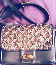 Fab Vintage '80's Gold Metallic Shoulder Bag - Braided Detail Adjustable Strap