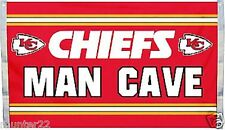 Kansas City Chiefs 3'x5' NFL Licensed Man Cave Flag  / Banner -Free USA Shipping