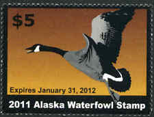 ALASKA #27 2011 STATE DUCK STAMP CANADA GOOSE by Sue Steinacher