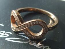 Ex-display Thomas Sabo rose gold vermeil zirconia infinity ring size L RRP £98