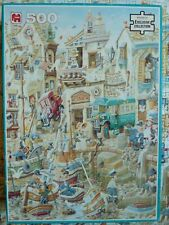 500 piece WH Smith exclusive puzzle Fishing Village by Charles Shiels