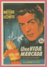 Spanish Pocket Calendar #260 Cry Of The City Film Poster Victor Mature