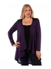 Plus Size Purple with Black  Draping Top Size 6X
