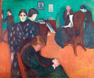 Death in the Sickroom by Edvard Munch 75cm x 63cm High Quality Art Print