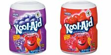 Kool-Aid Cherry & Grape Soft Drink Mix 538g (One of Each Tub)