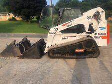 BOBCAT T300 SKID STEER RUBBER TRACK LOADER FULL CAB BOB CAT KUBOTA 4N1 BUCKET