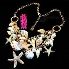 Jewelry Enamel Betsy Johnson Pendant Fashion rhinestone bay style conch Necklace