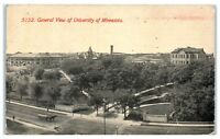 1911 General Rooftop View of University of Minnesota, Minneapolis, MN Postcard