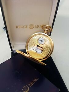 Reuge Showpiece Pocket Watch with Music Game works from the 1970er ref1556