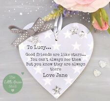 Friend gift Good Friends Are Like Stars Personalised Plaque Tibetan Silver Star