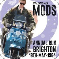 Original Metal Sign Co Melamine Coaster Calling All Mods Vintage Style Advert