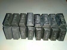 10 lbs Cleaned Lead Ingots