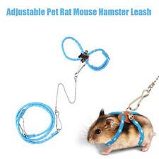Adjustable Pet Rat Mouse Hamster Harness Rope Ferret Finder Bell Lead Leash Tool