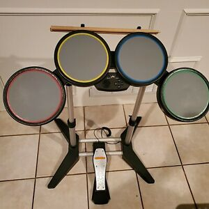 Harmonix Rock Band 822148 Wired Drum Set PS2 PS3 PS4 w/ Foot Pedal & Drumsticks