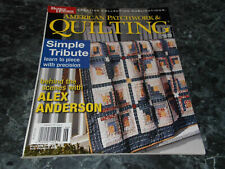 American Patchwork & Quilting Magazine June 2003 Issue 62 Gathering of Geese