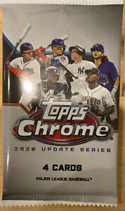 2020 Topps Chrome Update Series MLB Baseball Pack Free Shipping!