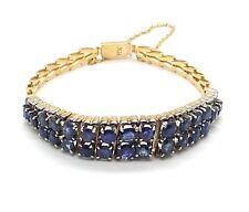 Ladies Sapphire Bracelet Natural Sapphires 7.02ct 18ct (750,18K) Yellow Gold