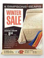Vintage Simpsons Sears 1968 Winter Sale Catalog Toronto Canada M345