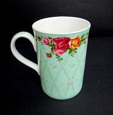 Royal Albert Peppermint Damask Coffee Mug Old Country Roses Bone China Vintage