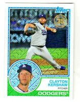 2018 Topps 35TH ANNIVERSARY 1983 SILVER PACK CHROME REFRACTOR CLAYTON KERSHAW