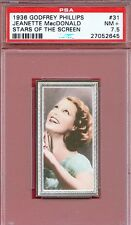 1936 Stars of the Screen Card #31 JEANETTE MacDONALD Rose Marie Actress PSA 7.5