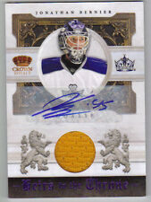 10-11 Jonathan Bernier Crown Royale Heirs to the Throne Auto Materials 01/50