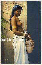 LEHNERT & LANDROCK #710 Arab Girl * Vintage 1910s Ethnic Nude PC