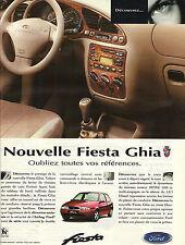 PUBLICITE ADVERTISING   1987   FORD FIESTA   la nouvelle GHIA