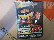 AYRTON SENNA'S SUPER MONACO GP II 2 VIDEO GAME CARTRIDGE SEGA MEGA DRIVE RARE