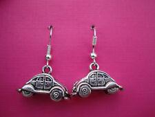Funky Herbie Beetle Car Earrings Retro Kitsch Cute Novelty Cool Surfer Fun Hippy