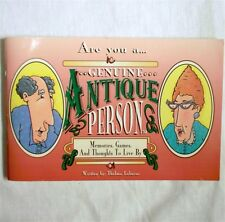 Are You a Genuine Antique Person 1993 Thelma Labacus Jokes Humor Book Paperback