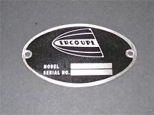 "Vintage Ercoupe DEA Required ""Aircraft Identification Data Plate"" Stainless"