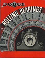 MRO Catalog - Dodge - Roller Bearings - 1936 - Timken - Brochure (MR167)