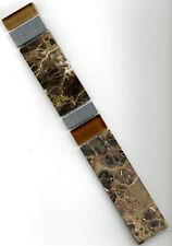 Mosaikbordüre Fliesenbordüre 4x30x0,8cm beige/braun Marmor/Glas/Edelstahl