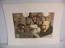 """Art print Charles Bragg artistic Plate Signed Color Lithograph """"The Indictment"""""""