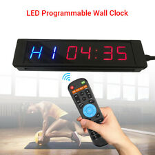 Programmable Interval Timer Clock Training w/ Remote Fitness Gym Yoga Crossfit