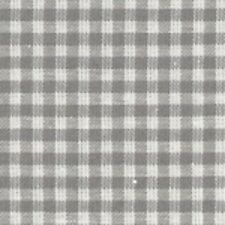 "1 x Half Metre (approx 20"" x 60"") Grey Gingham Cotton Fabric 100 Cotton"