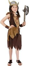 Viking girls Medieval Warrior princess kids fancy dress costume Age 7-9 M Childs