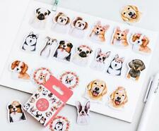 Pug Dog Sticker No.26 scrapbooking stickers party favours loot